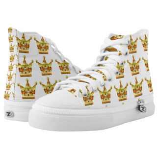 Gold Crowns of Tink Fairytale Art by Deprise High-Top Sneakers