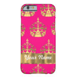 Gold crowns on hot pink barely there iPhone 6 case