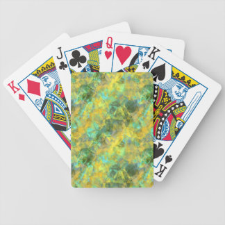 Gold Crumpled Texture Bicycle Playing Cards
