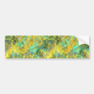 Gold Crumpled Texture Bumper Sticker