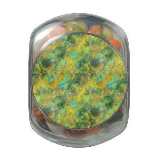 Gold Crumpled Texture Glass Jars