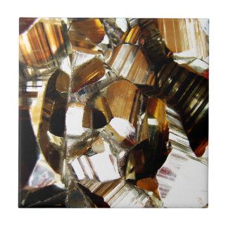 Gold Crystal Mineral Stone Ceramic Tile