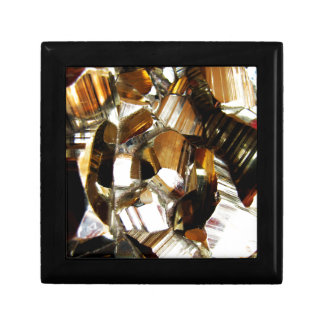 Gold Crystal Mineral Stone Gift Box