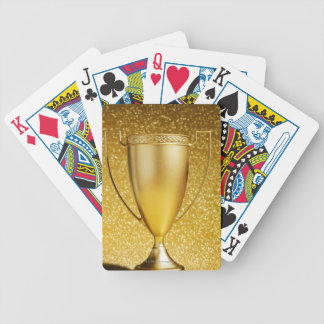 Gold Cup Trophy Bicycle Playing Cards