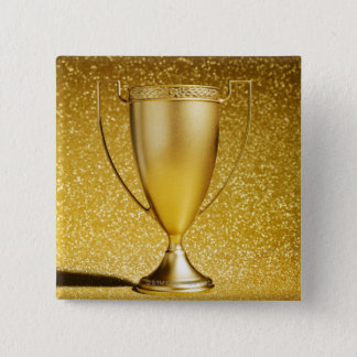 Gold Cup Trophy Pinback Button