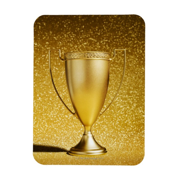 Gold Cup Trophy Rectangular Photo Magnet