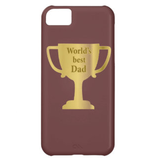Gold Cup World's Best Dad iPhone 5C Case