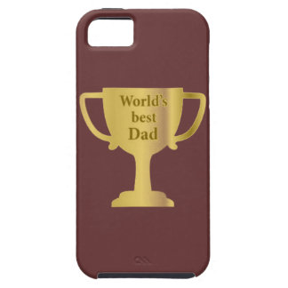 Gold Cup World's Best Dad iPhone 5 Cases