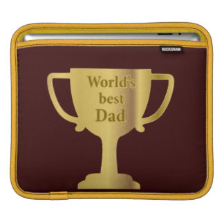 Gold Cup World's Best Dad ipad Sleeve