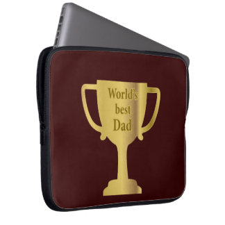 Gold Cup World's Best Dad Laptop Sleeve