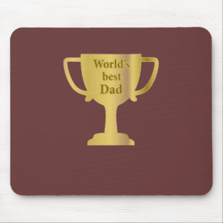 Gold Cup World's Best Dad Mouse Mat Mouse Pad