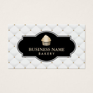 Cupcake business cards 3900 cupcake business card templates gold cupcake bakery luxury quilted business card cheaphphosting Image collections