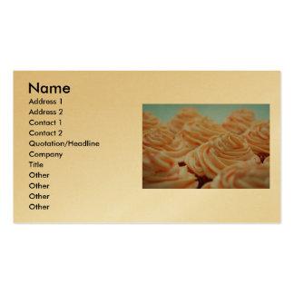 Gold Cupcake Business Card