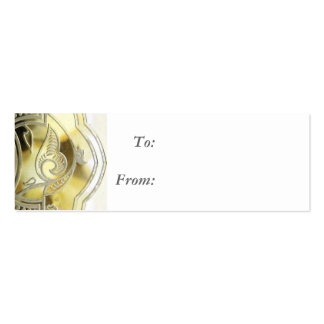 Gold Curves Gift Tag Business Card