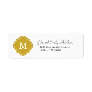 Gold Custom Personalized Monogram Label