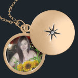 """gold customize neclace gold finish necklace<br><div class=""""desc"""">Medium Keep your favorite image, design, or words of inspiration close your heart with this beautiful round metal locket featuring a polished gold finish. Complete with a 18&quot; gold finish chain (2&quot; extender) and lobster claw clasp, this locket features a UV resistant and waterproof coating to protect your imagery for...</div>"""