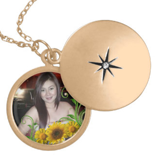 gold customize neclace round locket necklace