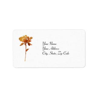 Gold cut Rose address lables Address Label