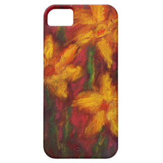 Gold Daffodils in Pink iPhone 5 Case