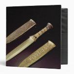 Gold dagger and sheath 3 ring binder