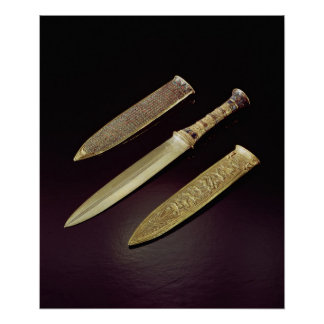 Gold dagger and sheath poster