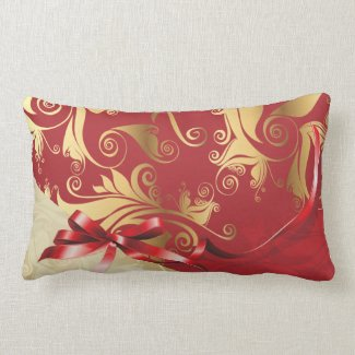 Gold Damask American MoJo Pillow throwpillow