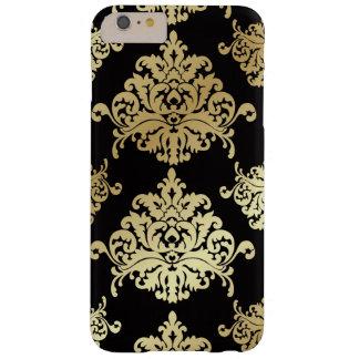 gold,damask,antique,vintage,pattern,elegant,black, barely there iPhone 6 plus case