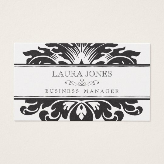 GOLD Damask Baroque Ladies Womens Business Card