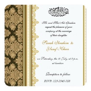 Muslim Wedding Invitations Zazzle
