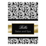 gold damask Business Thank You Cards