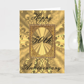 Gold damask card