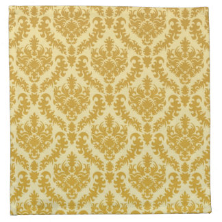 Gold damask cloth napkin