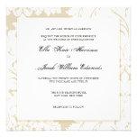 Gold Damask Collection   Wedding Invitation