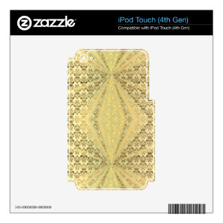 Gold damask decals for iPod touch 4G