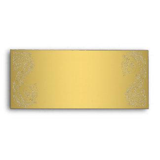 Gold Damask elegant elegant   #10 envelopes