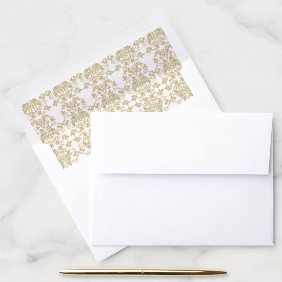 Gold Damask Envelope Liner