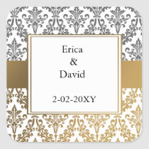 gold damask envelopes seals