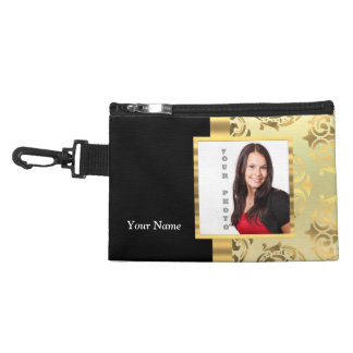 Gold damask instagram photo template accessory bags
