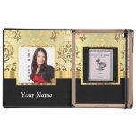 Gold damask instagram photo template iPad folio cases