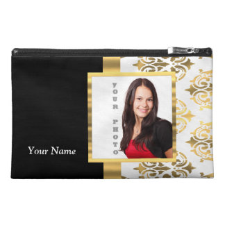 Gold damask instagram photo template travel accessories bags