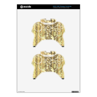 Gold damask & lace xbox 360 controller skins