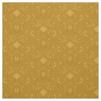 gold damask like print digital fabric