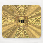 Gold damask mouse pads