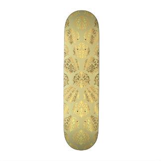Gold damask pattern custom skate board