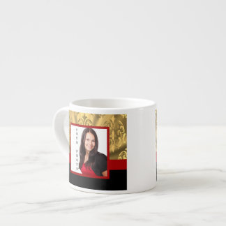 Gold damask photo template espresso cup