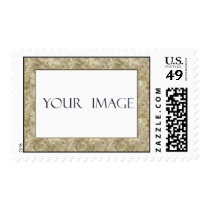 Gold Damask Photo Template Stamp