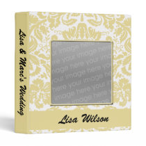 gold damask photo wedding binder