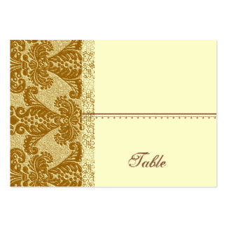 Gold Damask Place Card - Wedding Party Large Business Cards (Pack Of 100)