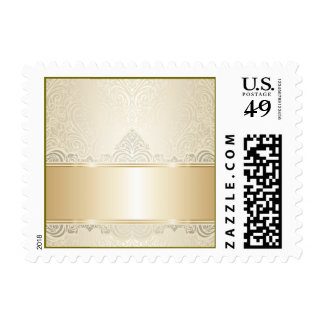 Gold,damask,silver,champagne,elegant,chic,pretty, Postage Stamps
