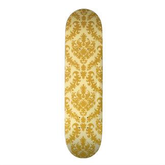 Gold damask skateboard